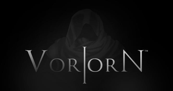 VorlorN (2013) logo and a picture of the main character, a man in a black robe.